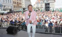 Hans-Jürgen Beyer beim Stadtfest 2019 auf dem Markt in Leipzig