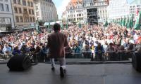 Hans-Jürgen Beyer beim Auftritt Leipziger Stadtfest 2019